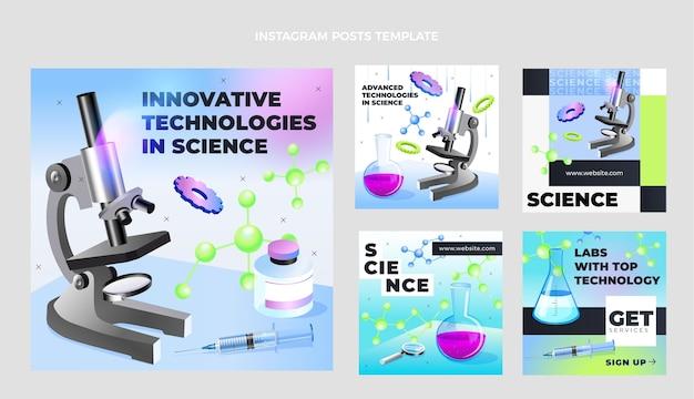 Modelo de postagem do instagram de ciência isométrica