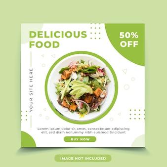 Modelo de postagem do instagram de comida deliciosa