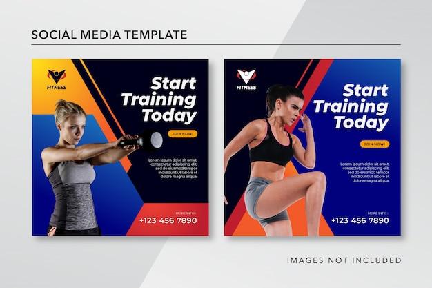 Modelo de postagem do instagram de fitness