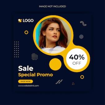 Modelo de postagem do instagram de mídia social de venda