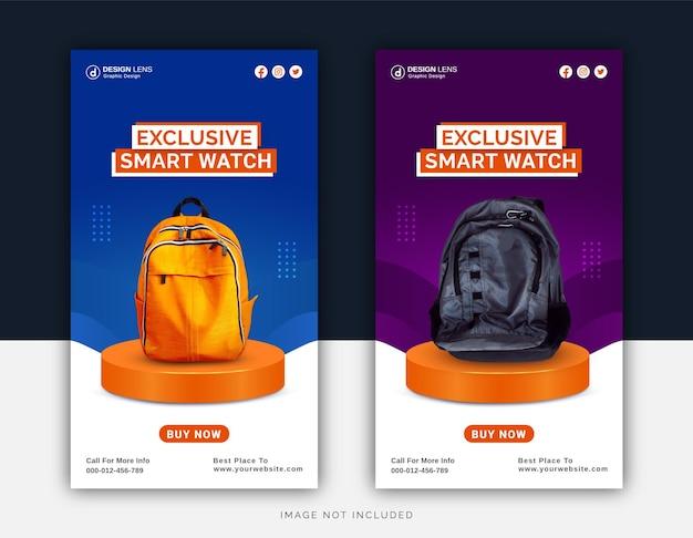Modelo de postagem do instagram exclusivo da coleção de smart bags digitais