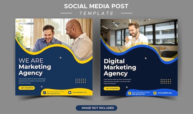 Modelo de postagem do instagram para agência de marketing digital de negócios