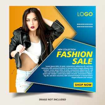 Modelo de postagem do instagram para vendas de moda, tamanho quadrado