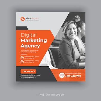 Modelo de postagem editável banners de mídia social para marketing digital