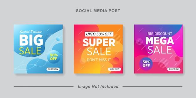 Modelo de postagem editável social media banners for digital marketing. negócio da marca de promoção. histórias