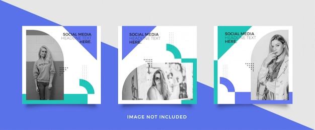 Modelo de postagem editável social media banners for digital marketing.