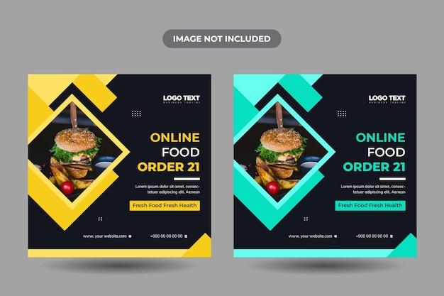 Modelo de postagem em mídia social de alimentos
