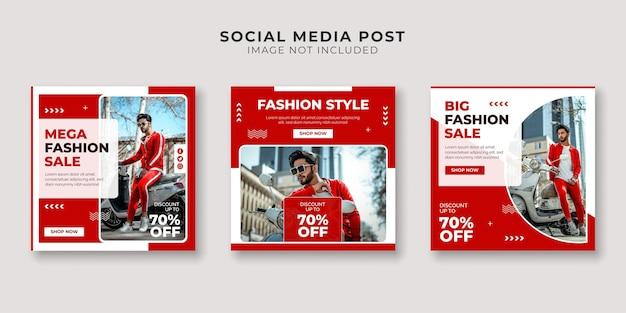 Modelo de postagem em mídia social de estilo fashion