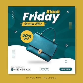 Modelo de postagem em mídia social de oferta especial de black friday