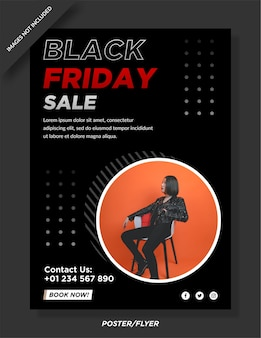 Modelo de postagem em mídia social de pôster e panfleto de venda black friday