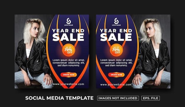 Modelo de postagem em mídia social de venda de final de ano