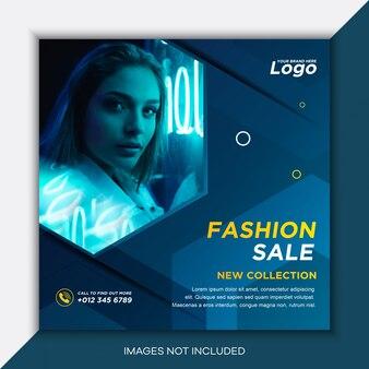Modelo de postagem em mídia social de venda de moda