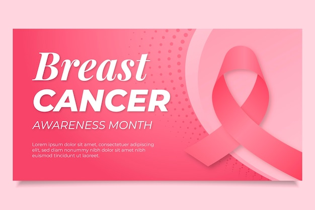 Modelo de postagem em mídia social gradiente para o mês de conscientização do câncer de mama