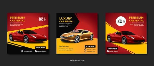 Modelo de postagem em mídia social para promoção de aluguel de automóveis