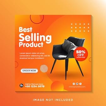 Modelo de postagem em mídia social para venda de móveis