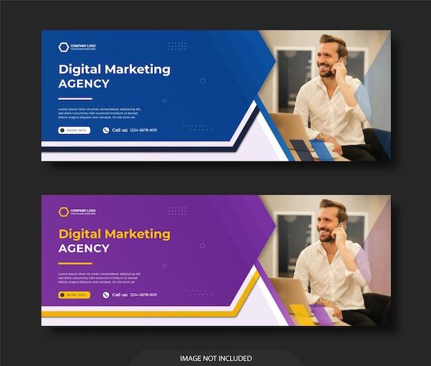 Modelo de postagem em mídias sociais e instagram e banner na web