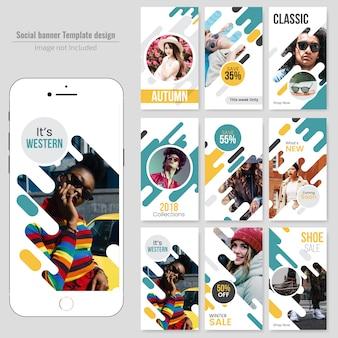 Modelo de postagem - fashin social media