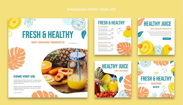 Modelo de postagem instagram de comida plana