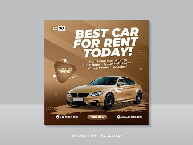 Modelo de postagem instagram de mídia social para carro Vetor Premium