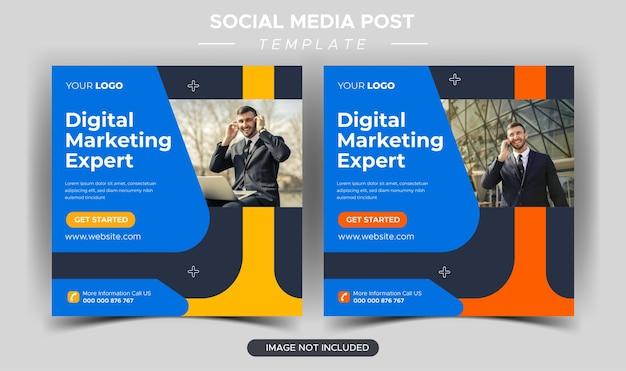 Modelo de postagem instagram especialista em marketing empresarial criativo