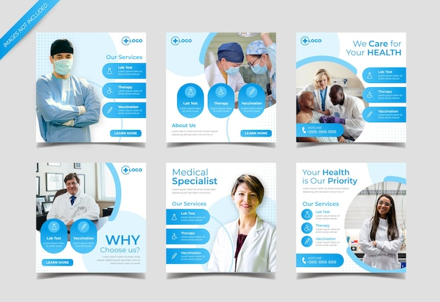 Modelo de postagem instagram médica e de saúde
