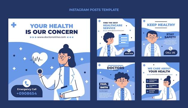 Modelo de postagem médica plana no instagram