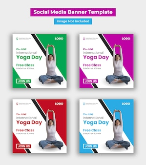 Modelo de postagem - mídia internacional do dia internacional da ioga