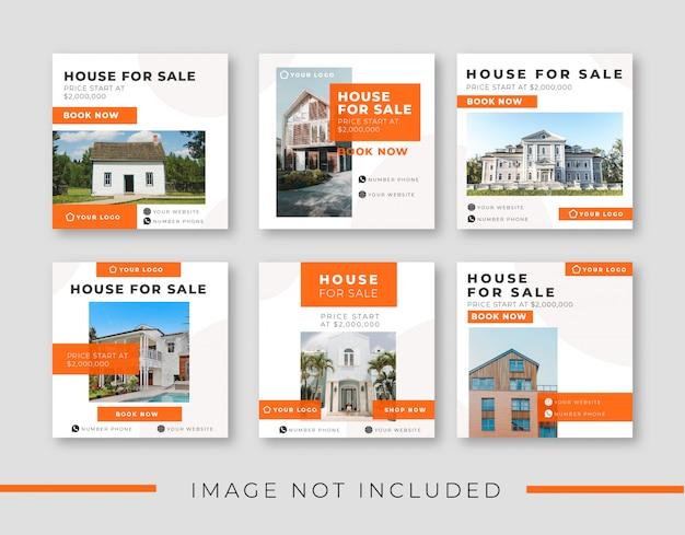 Modelo de postagem - mídia social de casa à venda