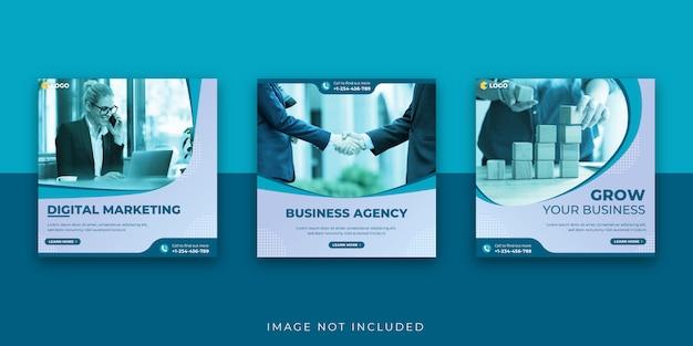 Modelo de postagem - mídia social de negócios