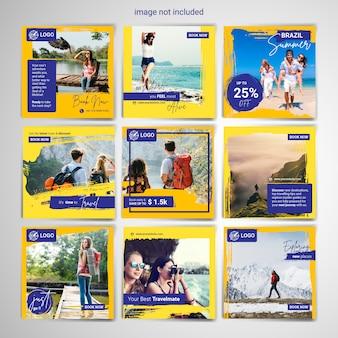 Modelo de postagem - mídia social de viagem