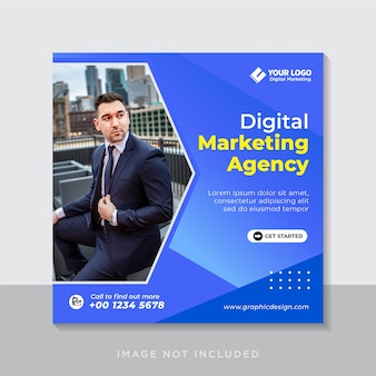 Modelo de postagem no instagram de marketing empresarial digital