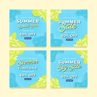 Modelo de postagem no instagram de promoção de verão
