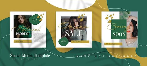 Modelo de postagem no instagram de venda de moda orgânica