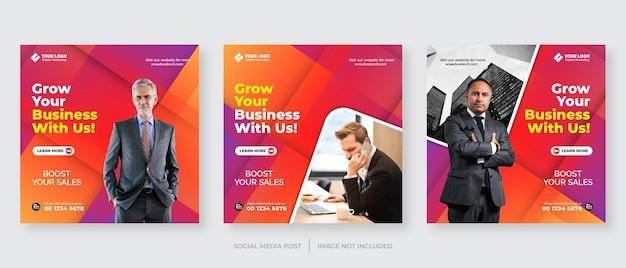 Modelo de postagem no instagram para agência de marketing digital de negócios