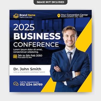 Modelo de postagem no instagram para conferências de negócios