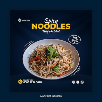 Modelo de postagem no instagram para redes sociais de comida deliciosa