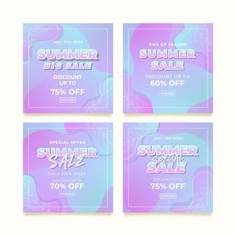 Modelo de postagem promocional do instagram de promoção de verão