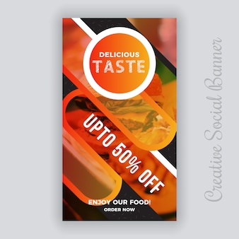 Modelo de postagem - vertical de comida social