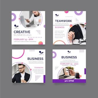 Modelo de postagens de instagram de negócios em geral