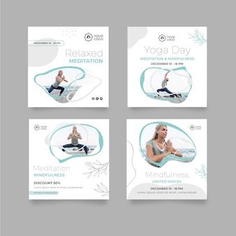 Modelo de postagens do instagram de meditação e atenção plena