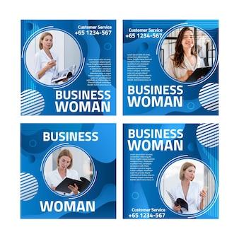 Modelo de postagens do instagram para mulher de negócios