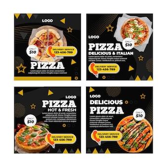 Modelo de postagens do instagram para pizzarias