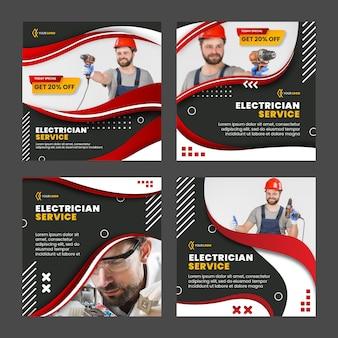 Modelo de postagens instagram de eletricista