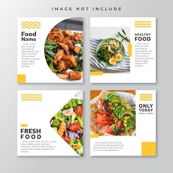 Modelo de postagens - social media de alimentos