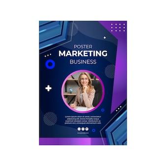Modelo de pôster comercial de marketing