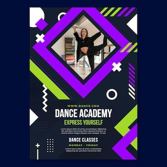 Modelo de pôster da academia de dança