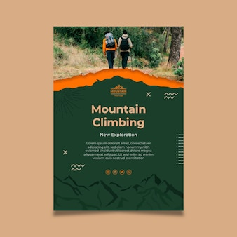 Modelo de pôster de alpinismo