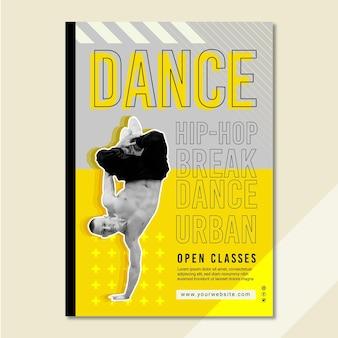 Modelo de pôster de aulas abertas de dança