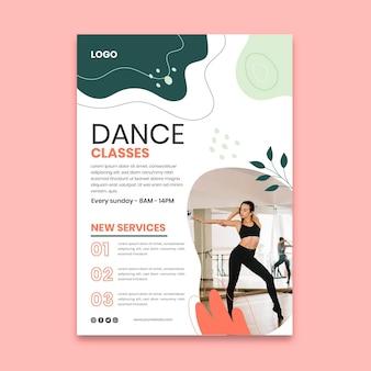 Modelo de pôster de aulas de dança
