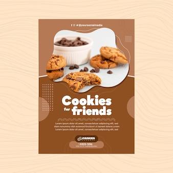 Modelo de pôster de biscoitos de chocolate
